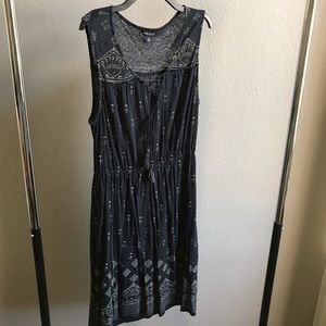 Cute cotton/linen Lucky Brand dress!